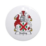 Family crest keating Round Ornaments
