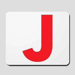 Letter J Red Mousepad