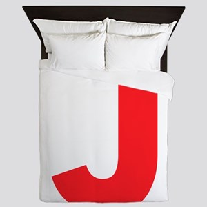 Letter J Red Queen Duvet