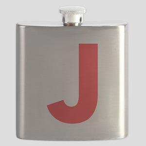 Letter J Red Flask