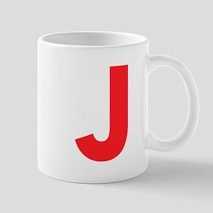 Letter J Red Mugs