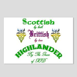 Scottish Highlander Postcards (Package of 8)