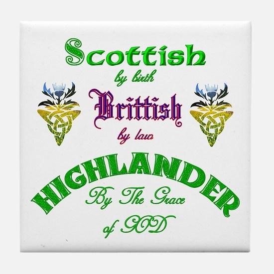 Scottish Highlander Tile Coaster