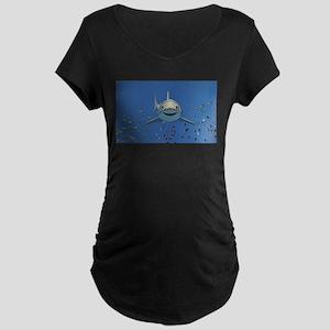 Great White Shark Maternity Dark T-Shirt