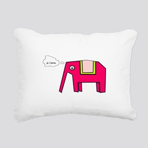 Pink elephant Rectangular Canvas Pillow