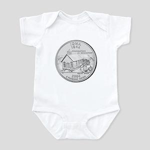 Iowa State Quarter Infant Creeper