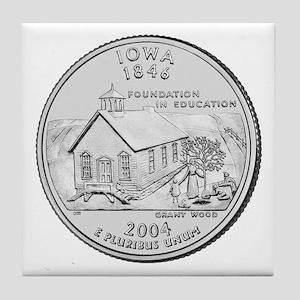 Iowa State Quarter Tile Coaster
