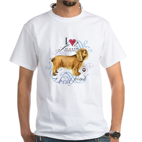 Sussex Spaniel White T-Shirt