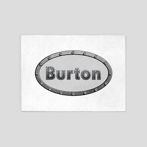Burton Metal Oval 5'x7'Area Rug