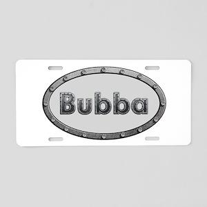 Bubba Metal Oval Aluminum License Plate