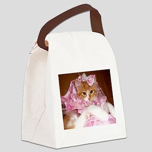 Kitten Wearing Dress Canvas Lunch Bag
