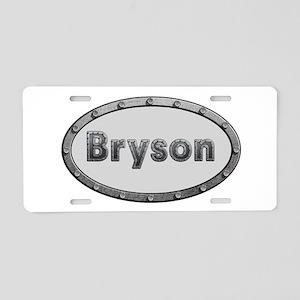 Bryson Metal Oval Aluminum License Plate