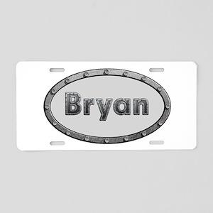 Bryan Metal Oval Aluminum License Plate
