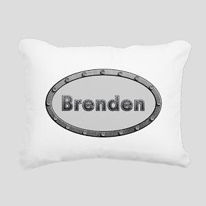 Brenden Metal Oval Rectangular Canvas Pillow