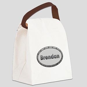 Brendan Metal Oval Canvas Lunch Bag