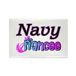 Navy Fiancee Rectangle Magnet (10 pack)