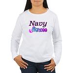 Navy Fiancee Women's Long Sleeve T-Shirt