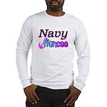 Navy Fiancee Long Sleeve T-Shirt