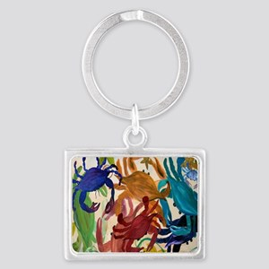 Crab Party Landscape Keychain