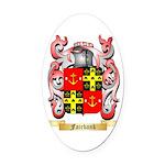 Fairbank Oval Car Magnet