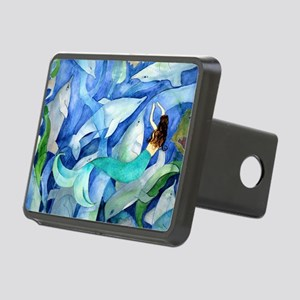 Dolphins and Memraid Art Rectangular Hitch Cover