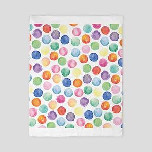 Watercolor Polka Dots Twin Duvet
