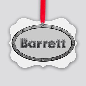 Barrett Metal Oval Ornament