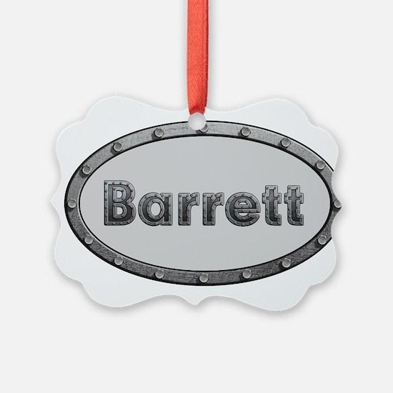 Barrett Metal Oval Ornament