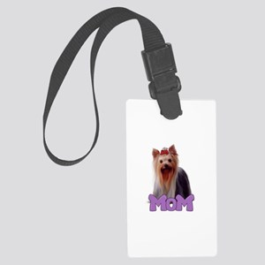 Yorkie Mom Large Luggage Tag
