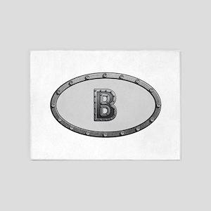 B Metal Oval 5'x7'Area Rug