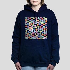 Watercolor Polka Dots Hooded Sweatshirt