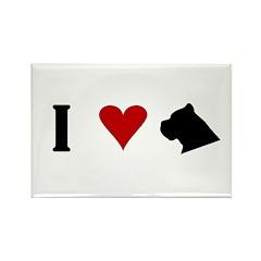 I Heart Cane Corso Rectangle Magnet (10 pack)