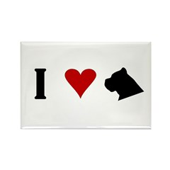 I Heart Cane Corso Rectangle Magnet