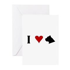 I Heart Cane Corso Greeting Cards (Pk of 10)