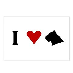I Heart Cane Corso Postcards (Package of 8)