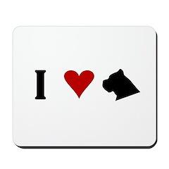 I Heart Cane Corso Mousepad