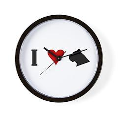 I Heart Cane Corso Wall Clock