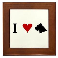 I Heart Cane Corso Framed Tile