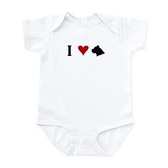 I Heart Cane Corso Infant Bodysuit
