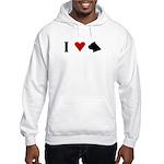 I Heart Cane Corso Hooded Sweatshirt