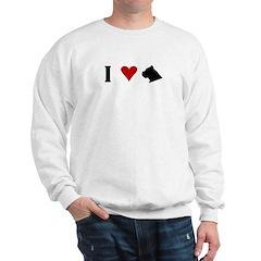 I Heart Cane Corso Sweatshirt