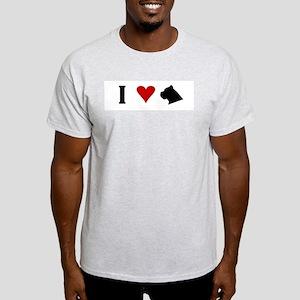 I Heart Cane Corso Light T-Shirt