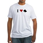 I Heart Cane Corso Fitted T-Shirt