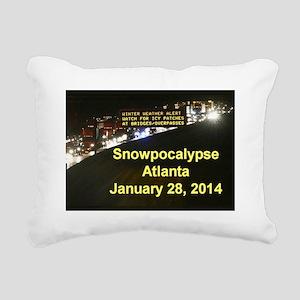 Snowpocalypse in Atlanta Rectangular Canvas Pillow