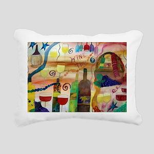 Wine Time Art Rectangular Canvas Pillow
