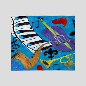 Jazz Art Throw Blanket