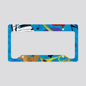 Jazz Art License Plate Holder