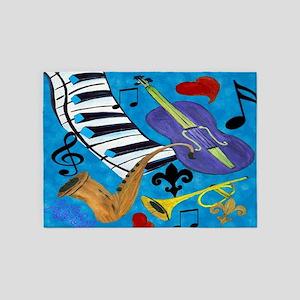 Jazz Art 5'x7'Area Rug