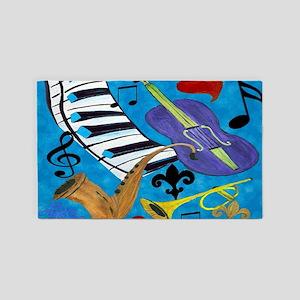 Jazz Art 3'x5' Area Rug