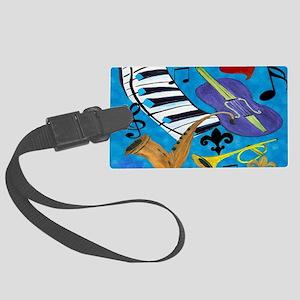 Jazz Art Large Luggage Tag